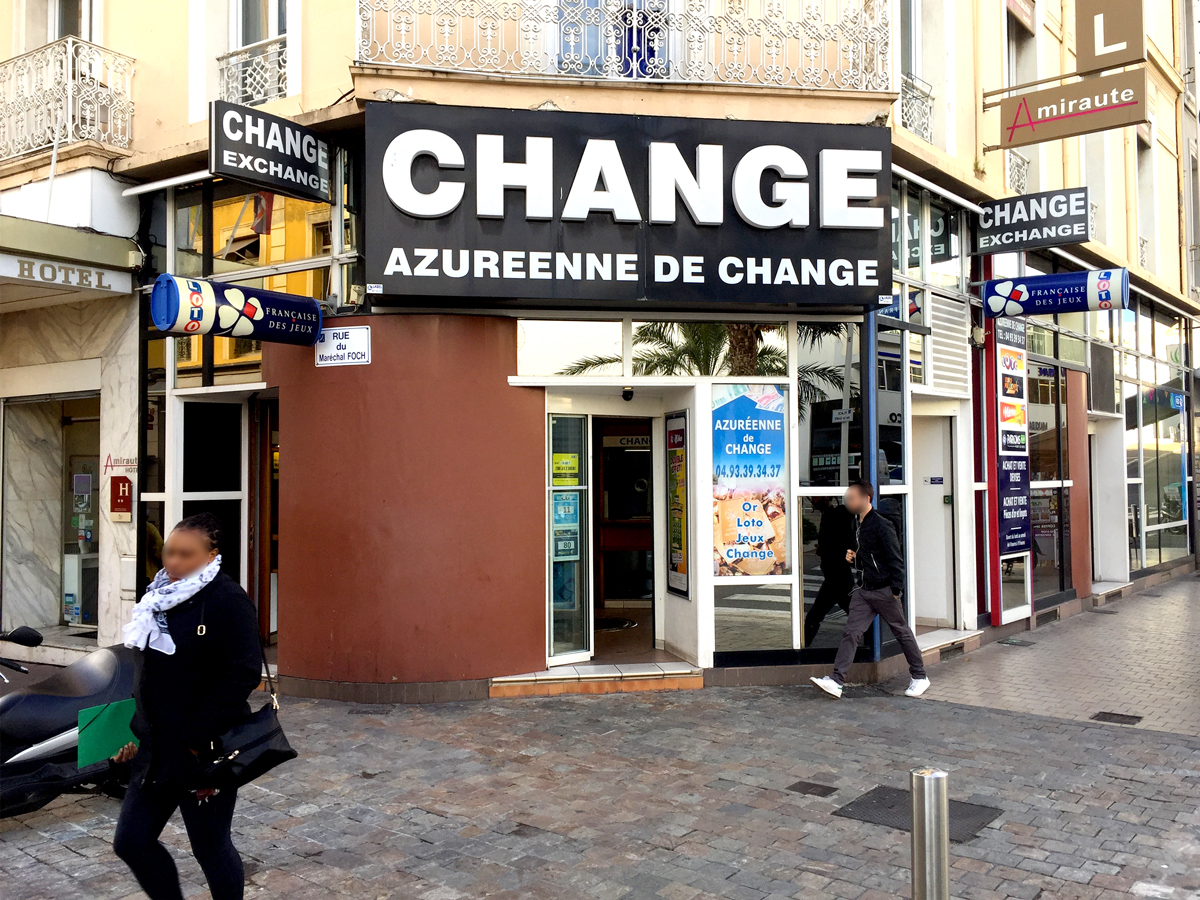 Bureau de change cannes 1 azureenne de change for Bureau change